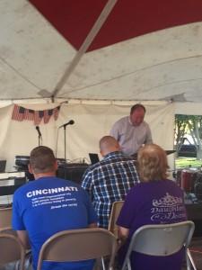 Tent revival happenings.